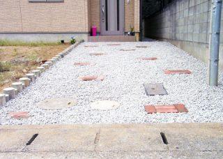 玄関前のアプローチ工事